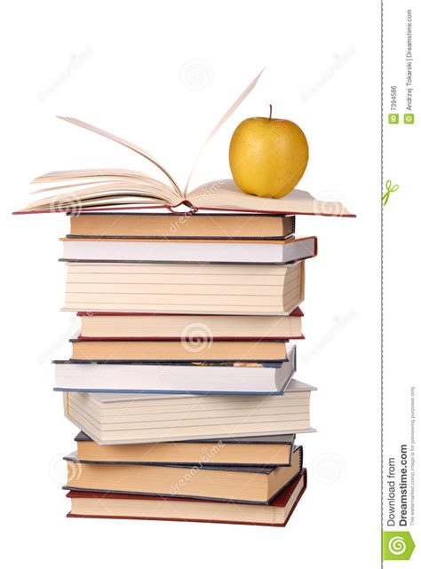 apple picture book books and apple royalty free stock image image 7394586