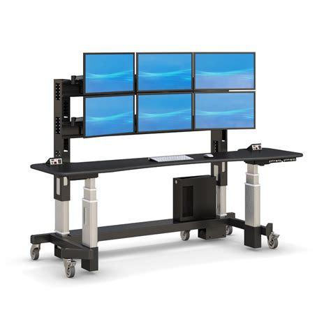 adjustable stand up sit desk adjustable sit stand up security desk afcindustries
