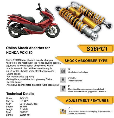Pcx 2018 Ohlins by Vlog Harga Asesoris Original Dan Aftermarket Untuk Honda