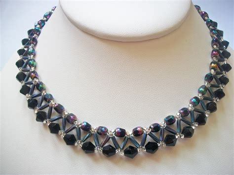 bead netting necklace abracadebra designs netted necklaces