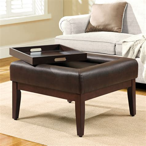 Walmart Small Dining Room Tables by Simple Modern Square Tufted Ottoman Coffee Table With Tray