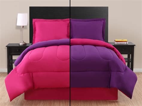 pink and purple bedding sets pink purple reversible comforter set