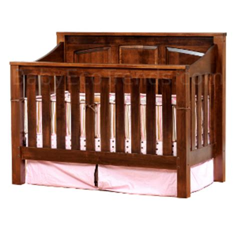 solid oak baby cribs solid wood cribs amish 4 in 1 convertible crib mission
