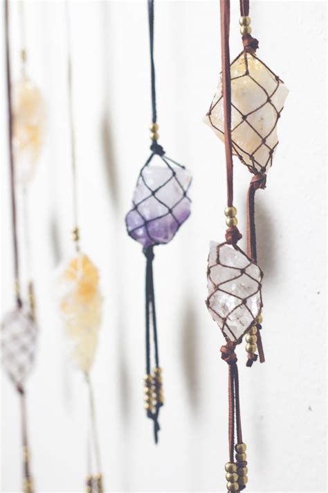 macrame crystal the world s catalog of ideas
