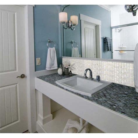 mosaic tile bathroom mirror of pearl shell mosaic tile shower bath mirror wall