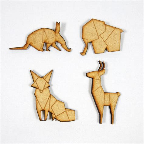 origami paper animals origami animals wooden brooches by abigail
