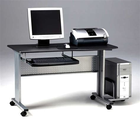 computer desk home mobile computer desk for home office solution
