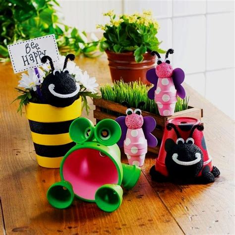 flower pot kid craft 12 garden decor crafts frogs flower and flower pot crafts
