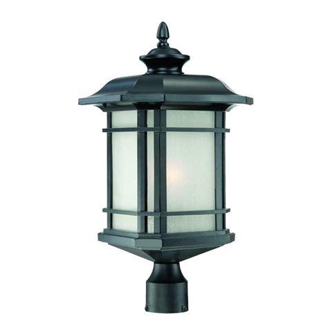 home depot outdoor lights acclaim lighting somerset 1 light matte black outdoor post