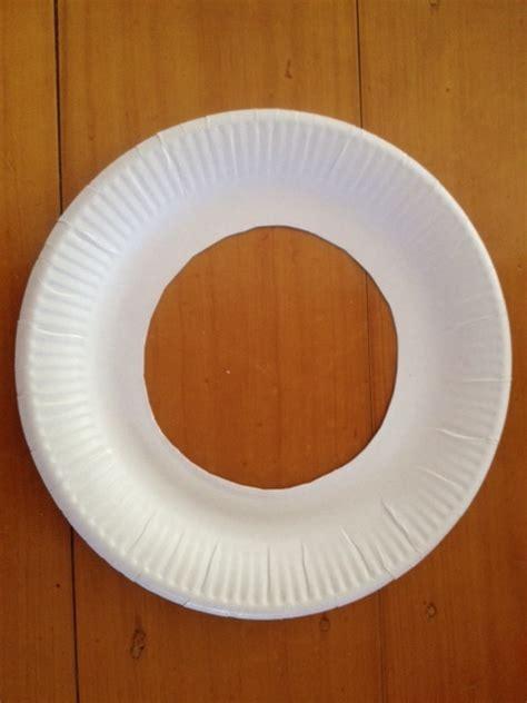 paper plate decoration craft paper plate cut out paper plate door wreath paper plate
