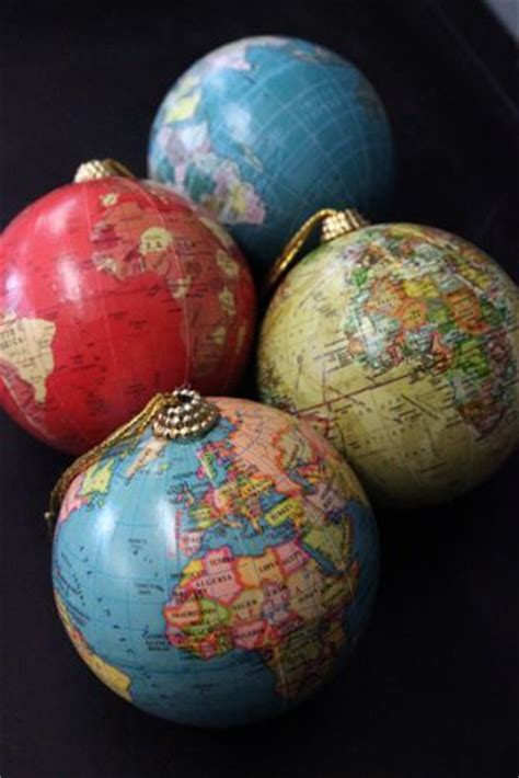globe ornaments world globe tree ornaments decorations