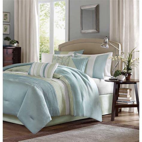 light green comforter set beautiful light blue green ivory white stripe