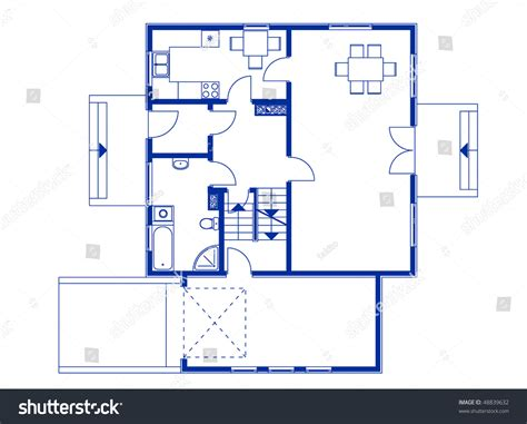 draft a blueprint of your home architectural house blueprint blue color ground stock