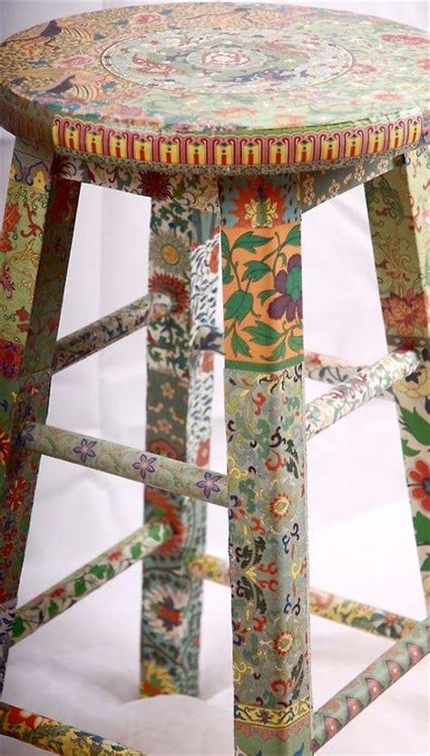 decoupage stool the world s catalog of ideas