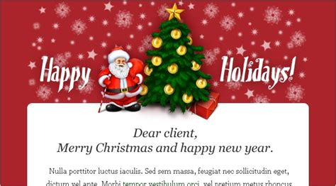 christmas newsletter template project management
