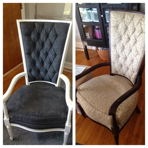 diy chalk paint on upholstery blissfully chic diy the painted chairs painting fabric