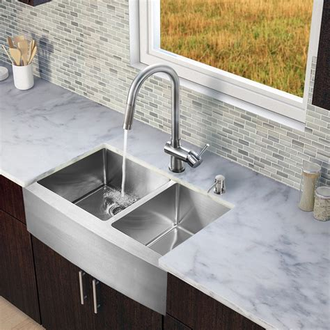discontinued kitchen sinks vigo vg15213 all in one 33 stainless steel bowl