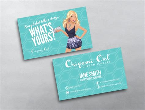 origami owl business cards origami owl business card 12