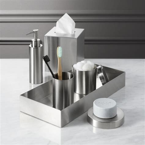 bathroom stainless steel accessories stainless steel bath accessories cb2
