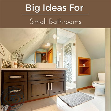 Big Bathrooms Ideas by Big Ideas For Small Bathrooms