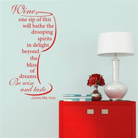 wine wall stickers wine quote wall sticker by mirrorin notonthehighstreet