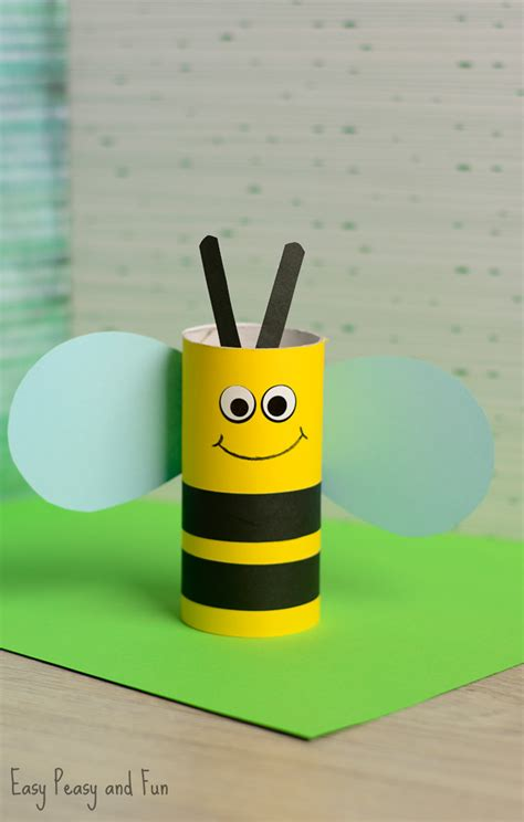 crafts with toilet paper rolls for preschoolers toilet paper roll bee craft for bee crafts toilet
