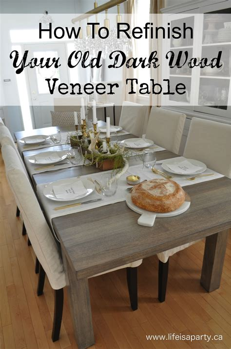 how to refinish a dining room table how to refinish a wood veneer dining room table
