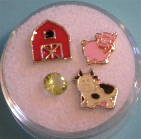 origami owl inspired charms origami owl inspired charms set for locket farm animals