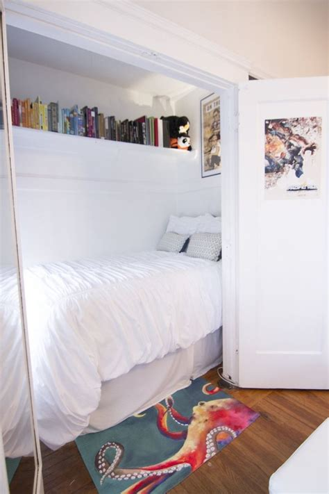 bed in closet s eclectic san francisco apartment house tours