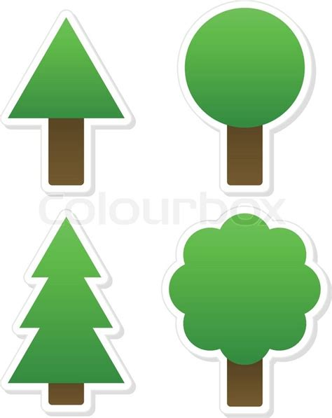 tree shapes different tree shapes isolated vector illustration tree