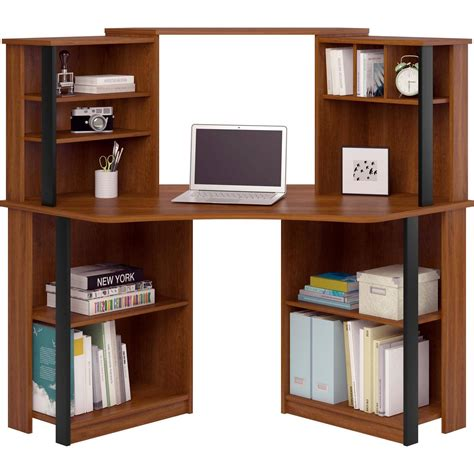 mainstays l shaped desk with hutch finishes black l shaped desk with hutch home remodeling and