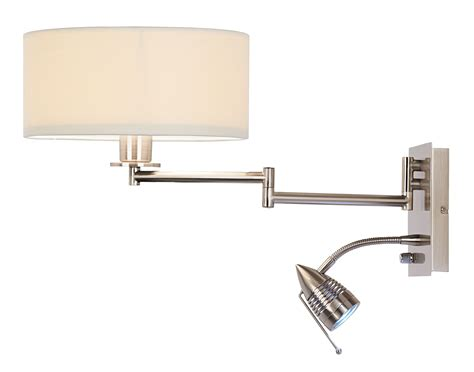 wall mounted l swing arm wall reading lights bedroom