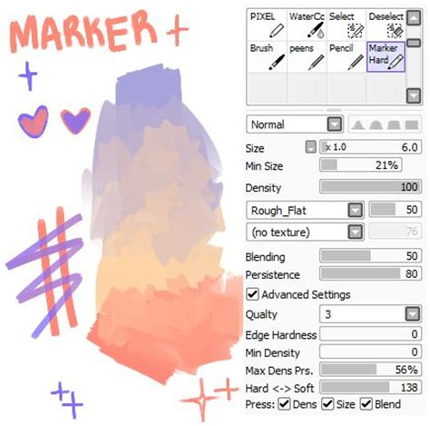 paint tool sai marker tutorial 17 best images about brush sai on paint tool
