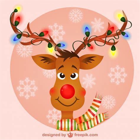 reindeer with lights reindeer with lights vector free