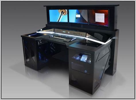 a computer desk best 25 gaming desk ideas on computer setup