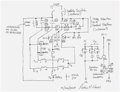 Single Phase Motor by Single Phase Motor Starter Wiring Diagram Vivresaville