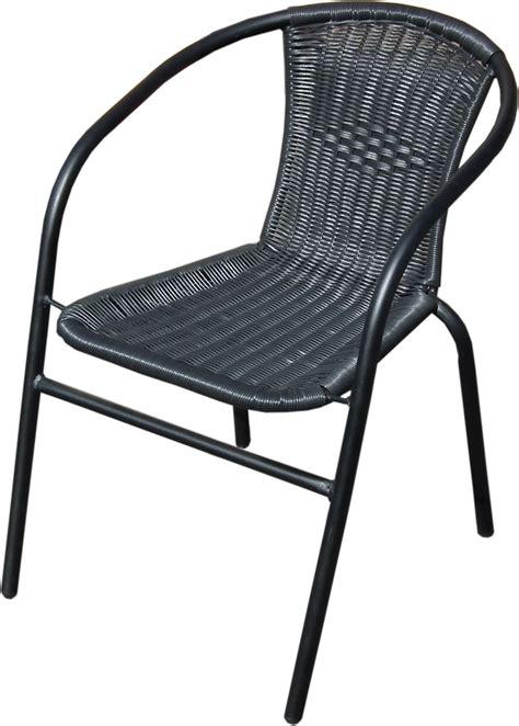 outdoor wicker chairs black outdoor wicker rattan bistro chair metal frame woven