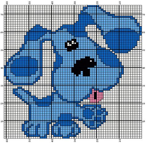 free knitting charts and motifs blue from blues clues knitting chart knitting charts