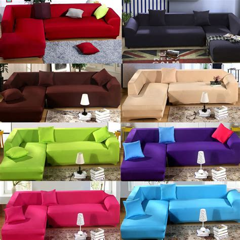 stretch slipcovers for sectional sofas fashion l shape stretch elastic fabric sofa cover
