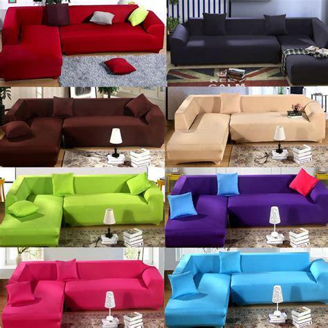 l shaped sofa cover fashion l shape stretch elastic fabric sofa cover