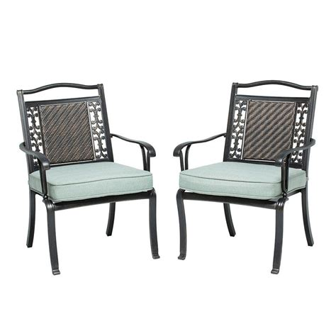 home depot patio chairs martha stewart living bellaire patio dining chair 2 pack