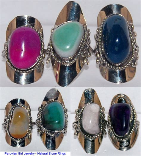 wholesale stones for jewelry 5 rings peruvian quartz agate jewelry wholesale ebay