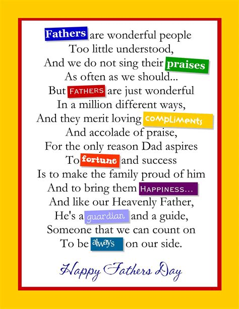 for on fathers day 2015 poems and quotes