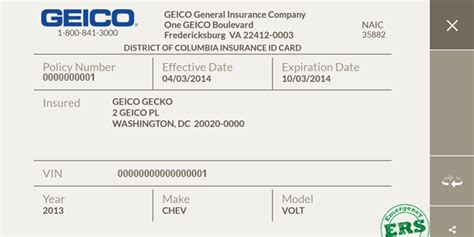 make insurance card geico mobile screenshot