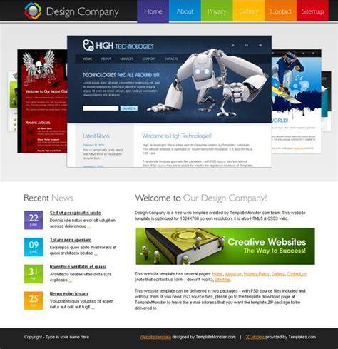 free homepage for website design kostenloses html5 template f 252 r website einer design firma