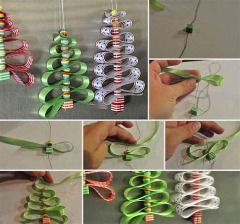 ribbon bead tree ornaments diy and ribbon tree pictures photos and