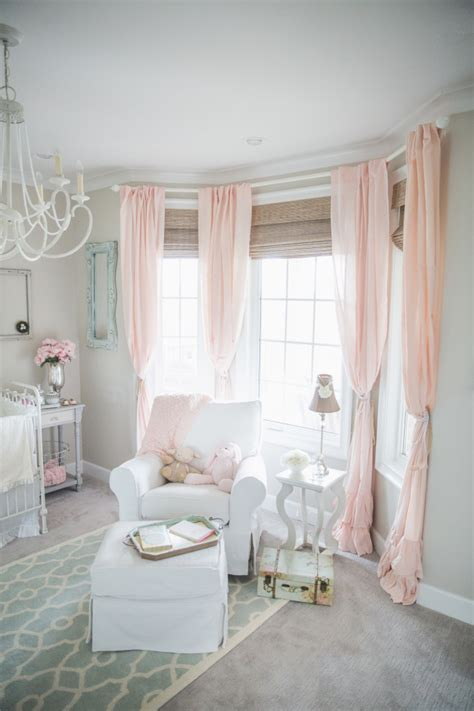 pink nursery curtains blushing pink nurseries project nursery