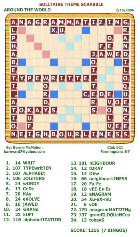 scrabble bingo bonus solitaire theme scrabble