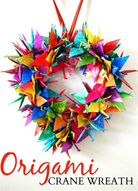 origami wreaths origami crane wreath craft tutorial raising whasians