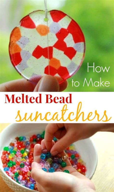 Melted Bead Suncatchers How To Make Them With Pony